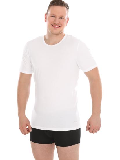 Comazo Lieblingswäsche Biowäsche Herren Shirt kurzarm in weiss