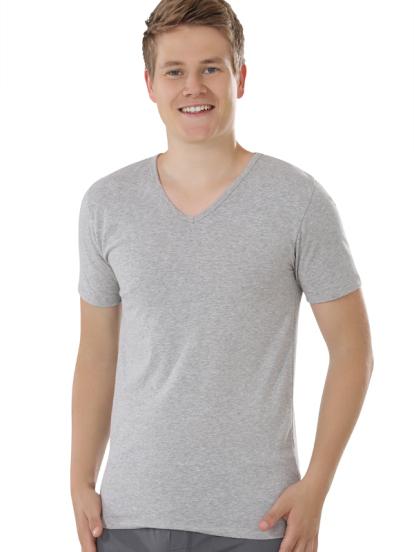 Comazo Biowäsche, Shirts für Herren in grau-melange - Vorderansicht