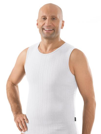 Comazo Unterwäsche, Shirt ohne Arm in weiss - Vorderansicht