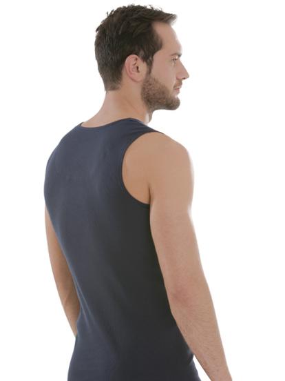 Comazo Biowäsche, Kurzarm Shirt in navy - Rückansicht