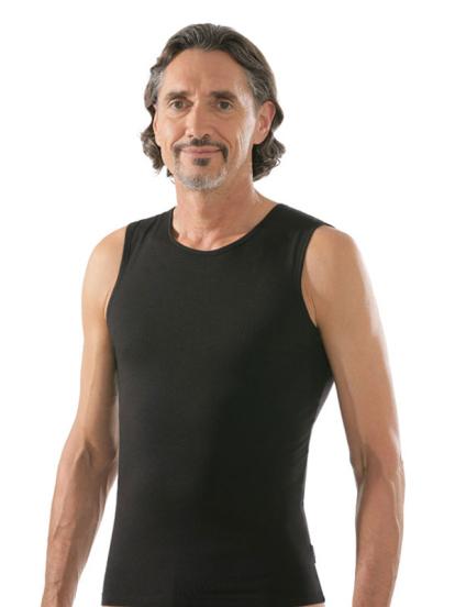 comazo black Unterwäsche, Shirt ohne Arm in schwarz - Vorderansicht