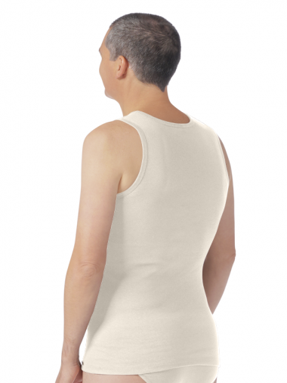 Comazo Biowäsche Herren Shirt ohne Arm in bio-natur