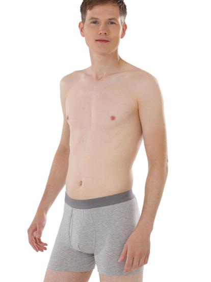 Comazo Biowäsche, Trunks für Männer in grau-melange - Ganzansicht