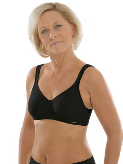 Comazo Unterwäsche, Komfort-BH für Damen in schwarz - Vorderansicht