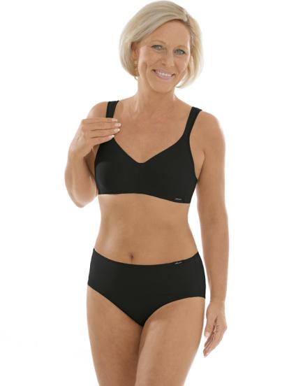 Comazo Unterwäsche, Komfort-BH für Damen in schwarz - Gesamtansicht