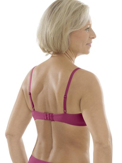 Comazo Unterwäsche, Spacer-BH für Damen in brombeer - Rückansicht