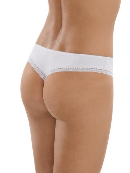 Comazo Unterwäsche, String für Damen in weiss - Rückansicht