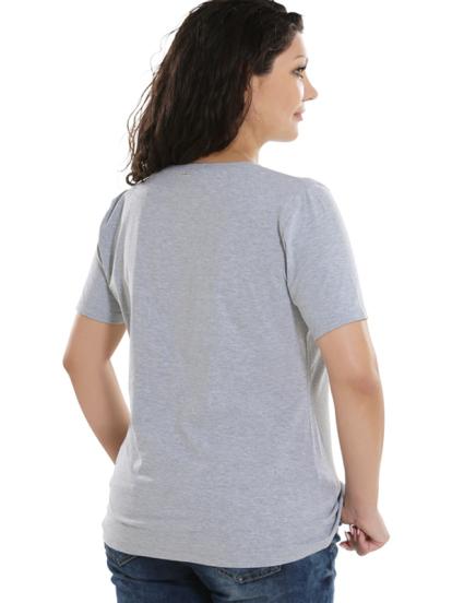 Comazo Lieblingswäsche Basic Shirt, grau-meliert - Rückansicht
