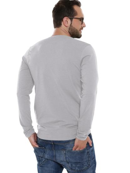 Comazo Lieblingswäsche Basic Shirt, grau-melange - Rückansicht