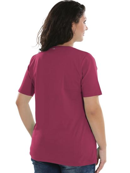 Comazo Lieblingswäsche Basic Shirt für Damen kurzarm in blue cherry