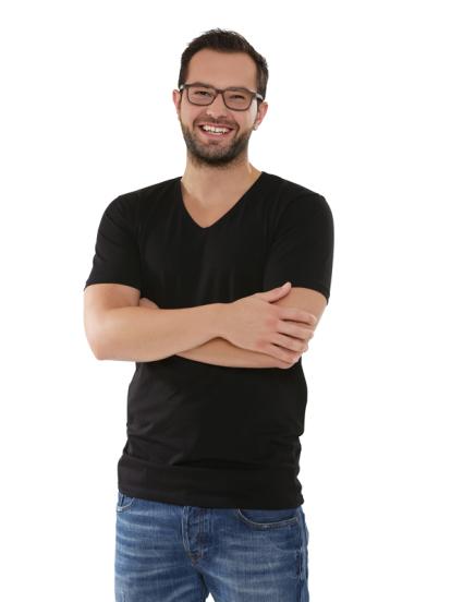 Comazo Lieblingswäsche Basic Shirt, schwarz  - Voderansicht