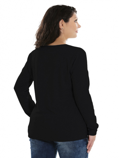 Comazo Lieblingswäsche Basic Shirt, schwarz - Rückansicht