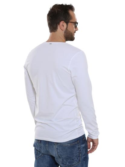 Comazo Lieblingswäsche Basic Shirt, weiss - Rückansicht