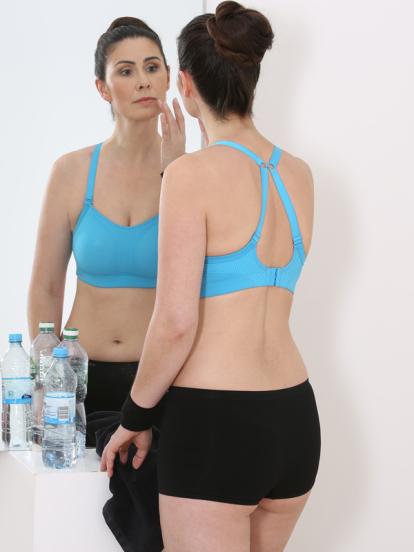 Comazo Lieblingswäsche, active Sport-BH für Damen in schwarz